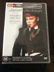 Details about JANET JACKSON - THE VELVET ROPE TOUR - LIVE IN CONCERT -  REGION 4 PAL DVD
