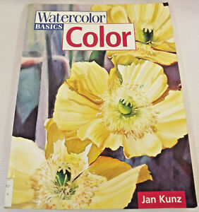 Watercolor-Basics-Color-book-softcover-ExLibrary-by-Jan-Kunz