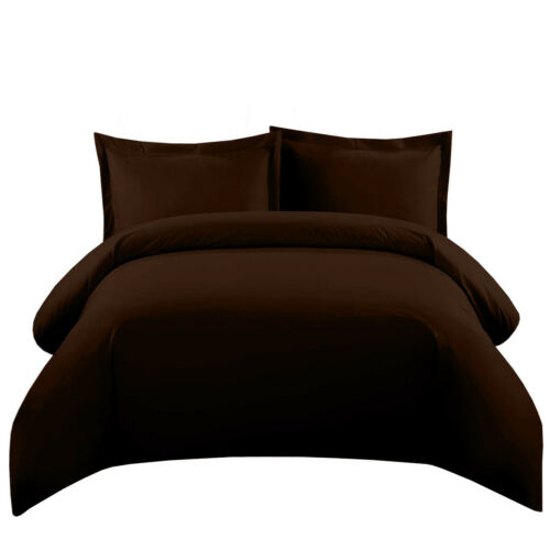 Super Luxurious Solid 550 Thread Count Duvet Cover Set 100 /% Cotton 3 Sizes