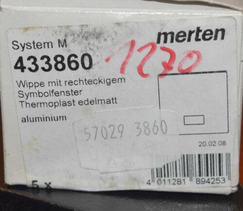 Merten bascule pour interrupteur-palpeur 433860 aluminium symbole de la fenêtre système M