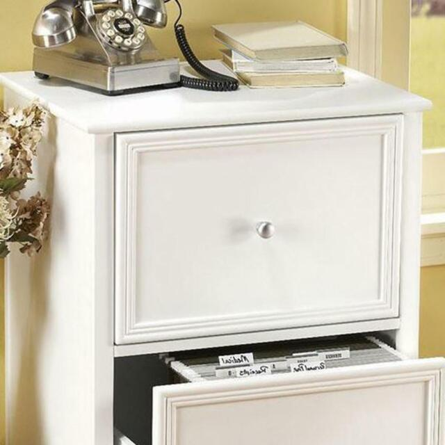 File Cabinet 2 Drawer Oxford White Home