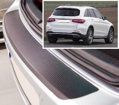 ABS Black Plastic Rear Bumper Protector Scratch Guard for Mercedes GLC 2015