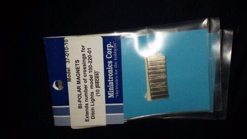 NIP 10 Pcs Miniatronics Bi Polar Magnets 37-010-10