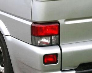 VW T4 Bus Transporter Multivan 90-03 Crystal Red White Tail Lights Rear Lamp Set