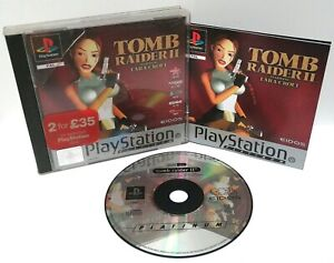 Tomb-Raider-2-Sony-Playstation-ps1-Platinum-Spiel-PAL-sehr-gut-komplett