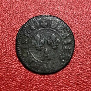 1457-RARE-Louis-XIV-Denier-Tournois-1649-A-Paris-FACTURE