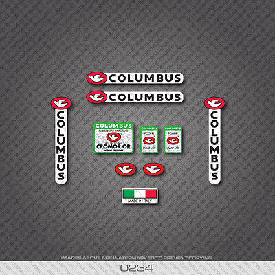 Decals 0034 Columbus CROMOR OR Bicycle Frame and Fork Stickers