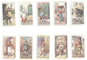 1916-Cries-Of-London-2nd-series-Complete-Players-Tobacco-Card-Set-25-cards-lot-2