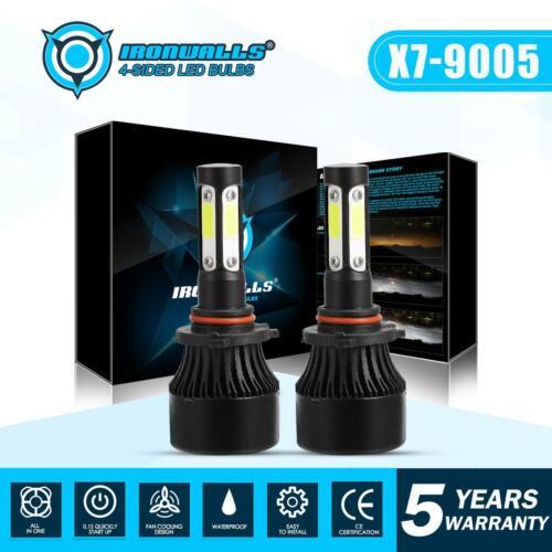 IRONWALL 1900W 4 sides 9005 HB3 H10 9145 LED Headlight Kit CREE Bulb 6000K White