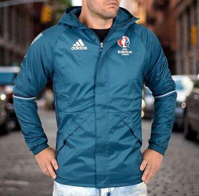 Adidas Ec Rain Jacket Uomo Giacca Pioggia Windbreaker Parka Giacca Vento Petrol Costruzione-mostra Il Titolo Originale Altamente Lucido