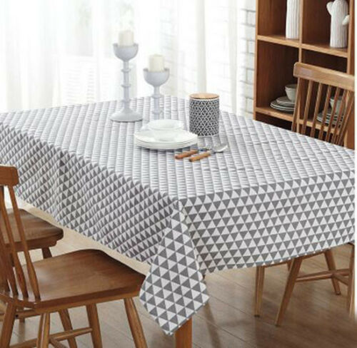 European Style Modern Black /& White Grid Tablecloth Covers Large Table Cloth