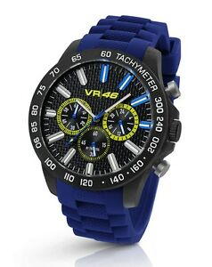 TW-Steel-Valentino-Rossi-VR-46-45mm-Blue-Strap-Chronograph-Watch-VR110