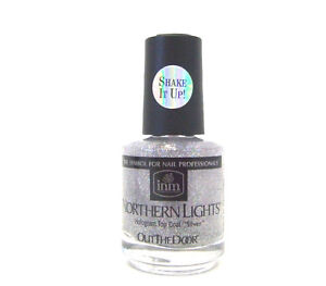 Inm Nail Northern Lights Hologram Top Coat Glitter Silver