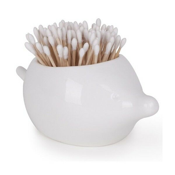 Umbra Foresta Porcupine Canister Bathroom Toiletry Cotton Swab Container Holder