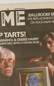 ANDY WARHOL Rick Rubin BLONDIE Beastie Boys DEF JAM Replacements NME magazine UK