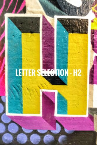 """Graffiti Letter /""""H/"""" 6x4 Print You choose the letters You choose the name!"""