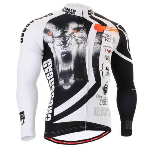 FIXGEAR CS-2201 Men/'s Long Sleeve Cycling Jersey Bicycle Apparel Roadbike MTB