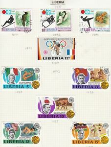 liberia stamps page ref 16906