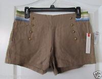 Margo & Sebastian Beige 100% Linen Back Zip Shorts. Juniors Sz. 3 Msrp$42