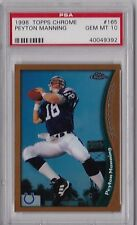 Lot (4) Peyton Manning 1998 Topps Bowman Chrome Preview Finest Rookie rC PSA 10