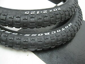 New-20-x-2-125-034-RWL-Motocross-Bicycle-TIRES-for-Old-School-Mongoose-GT-BMX-Bike