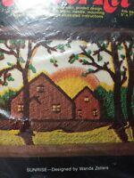 Nmi Crewel Kit Sunrise By Wanda Zellers Nip Vintage Sunshine Home House