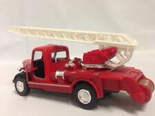 "Vintage Classic Fire Engine Truck W/Ladder, 5"" Die Cast Pull Back, Boy Girls Toy"