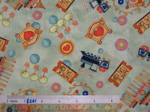 Choose-design-Train-Car-Carriage-castle-Magic-Station-cotton-quilting-fabric