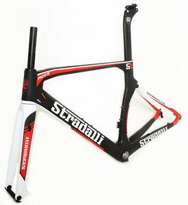 STRADALLI-RD17-CARBON-FIBER-AERO-DISC-BRAKE-ROAD-BIKE-BICYCLE-FRAME-SET-58CM-XL