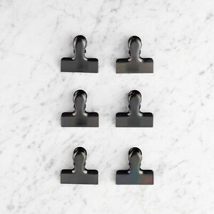 Taylor-039-s-Eye-Witness-Small-Stainless-Steel-Bag-Clips-Black-Gold-or-Silver-pk6