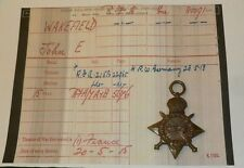 WWI First World War 1914-15 Star Medal Gnr J. E. Wakefield RFA Prisoner Of War
