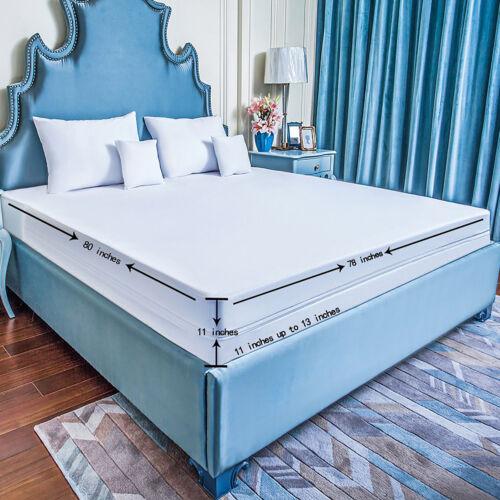 Zippered Mattress Encasement Waterproof Bed Bug Proof Breathable Noiseless Cover