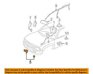 Details about GM OEM Airbag Air Bag SRS-Front Impact Sensor 10383585