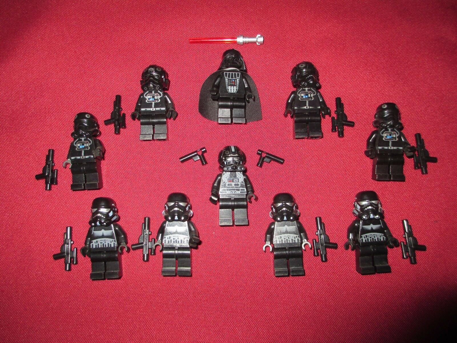 LEGO Star Wars minifigure LOT Darth Vader, V-Wing Tie Bombers Bombers Bombers & Pilots Shadow 91249a