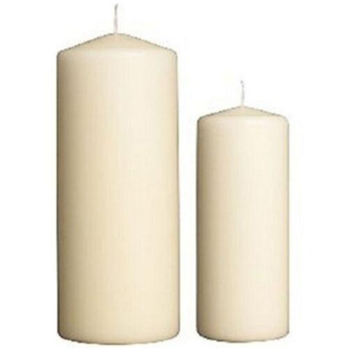 4 x Premium Quality Pillar Church Candles Unscented BULK Large Pack Weddings