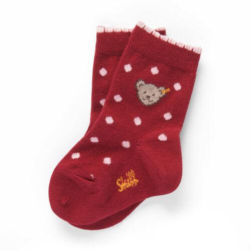 STEIFF® Mädchen Socken Söckchen Pünktchen Rot Bär 13-34 2019-20 NEU!