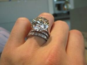Image Is Loading Certified 6ct Huge Solitaire White Diamond Engagement Ring