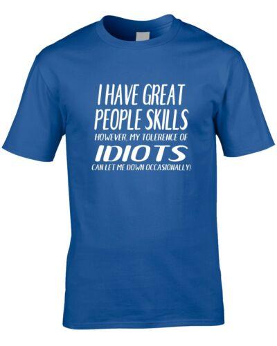 People Skills Funny Mens T-Shirt sarcastic Service Customer Boss Supervisor