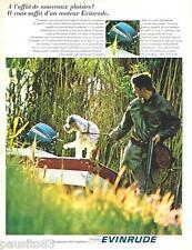 PUBLICITE ADVERTISING 105  1967  les moteurs de bateau EVINRUDE