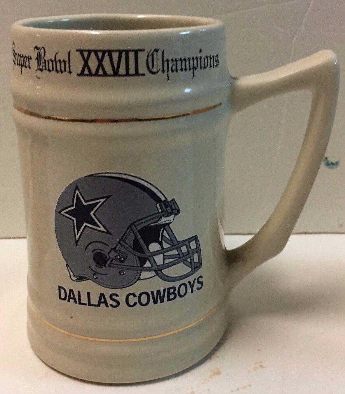Dallas Cowboys Superbowl Xxvii Champions Stein Becher Krug NFL