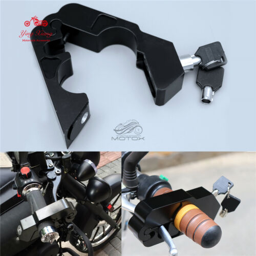 Handle Grip Security Safety Locks for Harley Motorcycle Brake Clutch Levers Lock