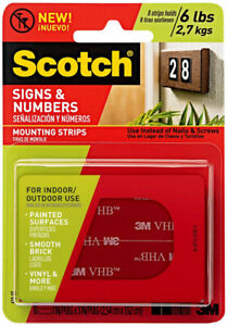 3M-Scotch-Signs-amp-Numbers-Mounting-Strips-Indoor-Outdoor
