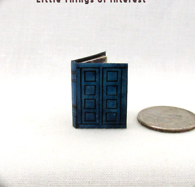 TARDIS JOURNAL RIVERSONG/'S Dollhouse Miniature Illustrated 1:12 Scale Book Who