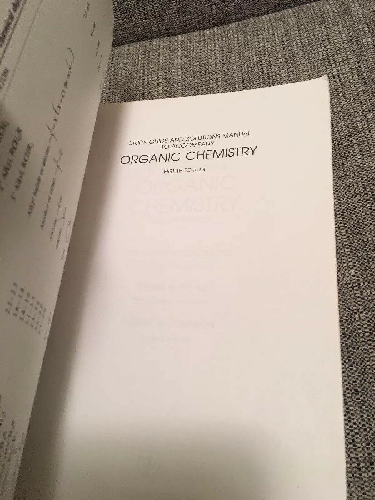 excellent organic chemistry by craig b fryhle and t w graham solomons  paperback with bruice organic chemistry Bruice Organic Chemistry Solutions  Manual ...