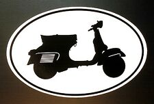 VESPA GS decal Euro oval vinyl bumper sticker piaggio motor scooter italia