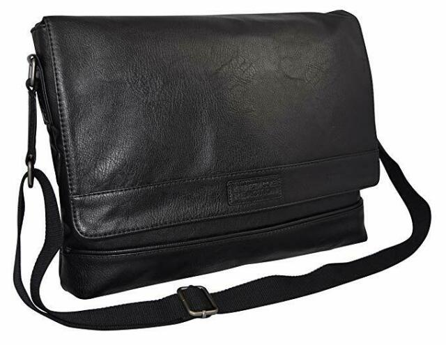 Kenneth Cole Unisex Black Messenger Shoulder Bag