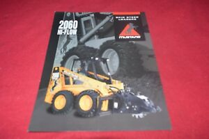 Details about Mustang 2060 High Flow Skid Steer Loader Attachments Dealer's  Brochure CDIL