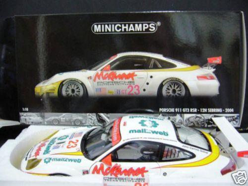 Porsche 911 996 gt3 rsr Sebring 2004 Maassen Bernhard Minichamps 1 18