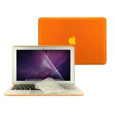"""3 in1 Rubberized ORANGE Case for Macbook AIR 13"""" A1369 + Key Cover + LCD Screen"""