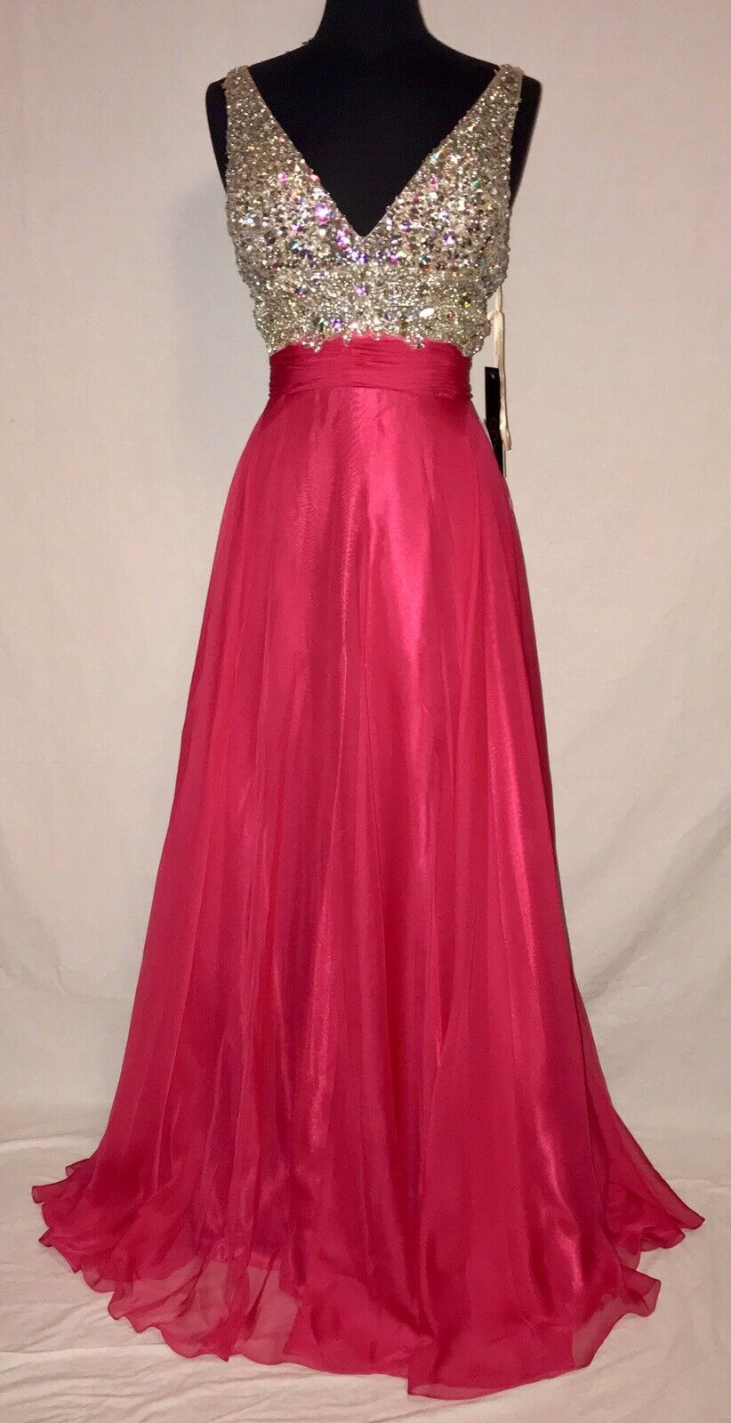 COYA CL1240 PROM PARTY FORMAL PAGEANT DRESS XL EXTRA LARGE WATERMELON PINK